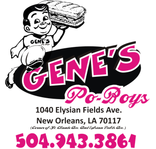Genes Poboys Banner